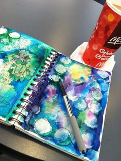 """Whimspirations: """"artful color play"""" prompts for art journaling inspiration! Art Journal Pages, Art Journals, Life Journal, Book Art, Collage, Creative Journal, Creative Art, Art Journal Inspiration, Journal Ideas"""
