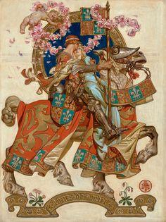 JC Leyendecker American Illustration, Art Et Illustration, Arte Dark Souls, Jc Leyendecker, Norman Rockwell, Medieval Art, Medieval Fantasy, Oeuvre D'art, Art Inspo