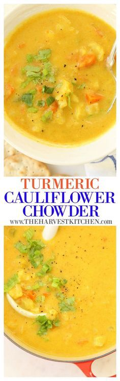 This Turmeric Cauliflower Chowder is a quick and flavorful pot of soup that will warm you to your core and give your immune system a good boost through cold and flu season.