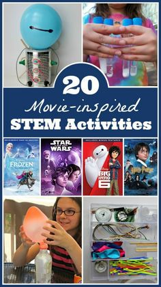 Kids will LOVE these STEM activities inspired by favorite kids movies like Harry Potter, Frozen, Star Wars and more! Fun ideas for homeschool or classroom STEM projects! Space Activities For Kids, Disney Activities, Steam Activities, Science Activities, Classroom Activities, Science Books, Science Classroom, Science Education, Computer Science