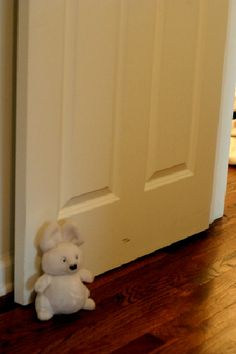 Turn old stuffed animal friends into door stops or book ends- awesome way to keep them around for generations!