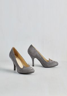 Mew and Me Forever Heel in Slate, @ModCloth