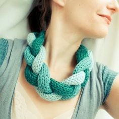 Going Grey and Slightly Green: Do you remember French Knitting?