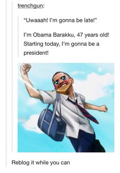 Last chance before the election to repost this before the election. XD