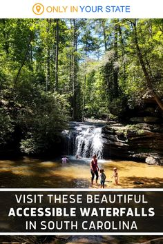 These beautiful South Carolina waterfalls require little to no hiking to access. They are some of the best places for summer fun, offering natural swimming holes and wading pools perfect for families. Summer Travel, Summer Fun, Hidden Beach, Swimming Holes, Waterfalls, South Carolina, State Parks, Pools, Closer