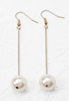 Faux Pearl Drop Earrings | Forever 21 - 1000179246