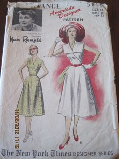 Vintage Advance Pattern 5818 Dress  Sz 12 by LegacyVintagePattern, $10.00