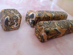 Бусины, имитация мрамора из полимерной глины своими руками - YouTube