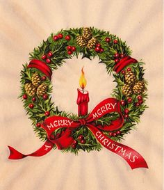 Image result for old fashioned christmas wreath