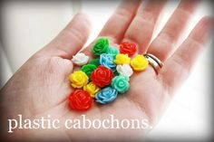 how to make earrings cabochon roses, easy!