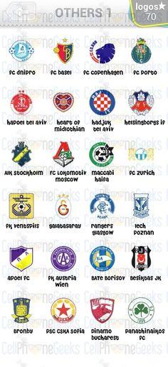 Level 7 – Logo Quiz Football Clubs Others 1 Answers Fc Lokomotiv Moscow, Apoel Fc, Fc Basel, 7 Logo, Fc Porto, Dan, Video Games, Football, Club