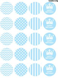 cupcake topper diy template | food for events & parties | Pinterest