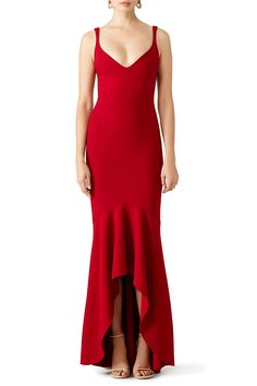 Rent Red Sade Gown by Cinq à Sept for $110 - $120 only at Rent the Runway.
