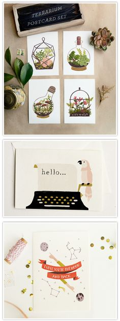 Oh, seht mal – sind die nicht fabelhaft? Ich bin hin und weg von meiner Neuentdeckung Quill and Fox. So schöne illustrierte Postkarten gibt es da … mir geht das Herz auf! Schaut unbedingt mal in den etsy-Shop, die Produkte sind wirklich herzallerliebst. Und auch den Blog und das Lookbook...