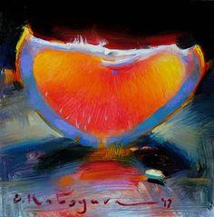 "Daily Paintworks - ""Grapefruit Glow"" - Original Fine Art for Sale - © Elena Katsyura Fruit Painting, Still Life Art, Fruit Art, Fine Art Gallery, Art For Sale, Paint Colors, Grapefruit, Artwork, Glow"