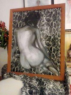 painting,mujer leopardo vintage/Vintage leopard woman