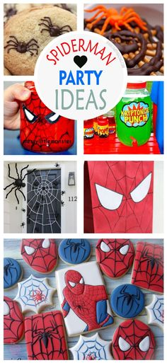 +12 Spider-man Party Ideas Mom's little hero has grown another year and it's just the chance to have a wonderful party with a theme that kids adore, the amazing Spider-man. Prepare the mothers throw nets and spider sense so that all the guests have incredible moments and organize an unforgettable children's party. www.partymazing.com
