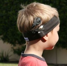 The Hearing Henry Headband! Made by a mom who needed something that worked to hold her own child's CI in place.