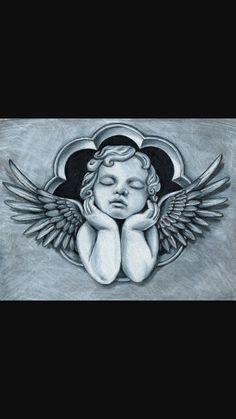 Cherub angels and cherubs Chicano Tattoos, Body Art Tattoos, Sleeve Tattoos, Tattoo Design Drawings, Tattoo Sketches, Angel Tattoo Drawings, Cupid Tattoo, Angels Tattoo, Baby Angel Tattoo
