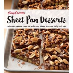 Buy Betty Crocker Sheet Pan Desserts: Delicious Treats You Can Make with a Sheet, or Jelly Roll Pan by Betty Crocker and Read this Book on Kobo's Free Apps. Discover Kobo's Vast Collection of Ebooks and Audiobooks Today - Over 4 Million Titles! Betty Crocker, Almond Cookies, 100 Calories, Dessert Cookbooks, Slab Pie, Dessert Aux Fruits, Jelly Roll Pan, Frozen Desserts, Sweets