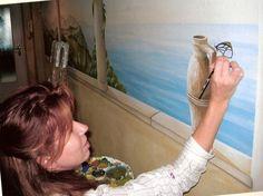 Illusionsmalerei oder Wandmalerei, Trompe l'oeil