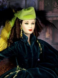 Barbie wearing Scarlet O'Hara's drapes