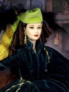 Barbie wearing Scarlet O'Hara's drapes