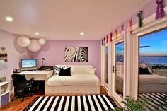 black, white and lilac