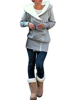 Miusol® Womens New Double Zips Long Sweatshirt Hoodie Jacket Coat Sweater,Light Grey, UK Size 18 Miusol® http://www.amazon.co.uk/dp/B00GD4DL9O/ref=cm_sw_r_pi_dp_eB2pub1T51145