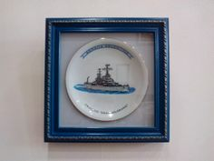 Enmarcado de Plato conmemorativo Crucero Gral. Belgrano