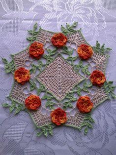 Мій варіант серветки з трояндами