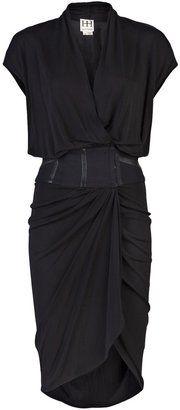 ShopStyle: Haute Hippie open neck wrap dress