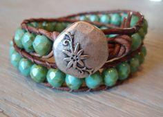 """Rustic Bohemian"" bracelet: Handmade. Shabby boho chic #boho #bohemian #jewelry #handmade"