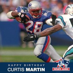 """25b091b89b2 New England Patriots Alumni on Instagram: """"Happy Birthday to  @profootballhof, Curtis Martin! Martin was the 1995 Rookie of the Year and  continued to play ..."""