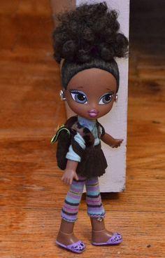 Bratz Kidz Doll Sasha Original Hair Style - cute school outfit & extra Shoes #Bratz