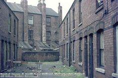 Demolition of The Meadows, c 1974 Nottingham City, Industrial Architecture, History Photos, Slums, Family History, Regency, Birmingham, Old Photos, Derby
