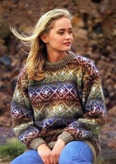 Knitting Patterns Sweaters Knitting package Lettlopi No. Fair Isle Knitting Patterns, Fair Isle Pattern, Vest Pattern, Crochet Patterns, Nordic Pullover, Nordic Sweater, Norwegian Knitting, Icelandic Sweaters, Fair Isles