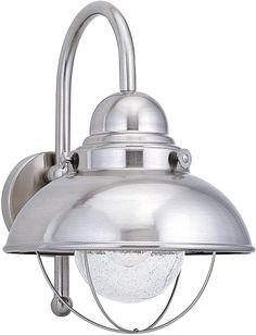 0-022498>Sebring 1-Light Outdoor Wall Lantern Brushed Stainless