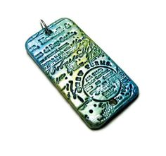 Handmade Polymer Clay Pendant Bail Rectangle by SweetchildJewelry, $10.50