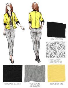 FIT Portfolio Application Sketch Fashion, Fashion Design Sketchbook, Fashion Art, Fashion Illustration Portfolio, Fashion Illustrations, Fabric Drawing, Dress Name, Drawing Clothes, Fashion Sewing