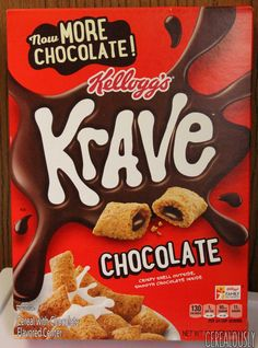 Kellogg's Krave Breakfast Cereal, Chocolate, Oz for sale online Chocolate Cereal, Chocolate Box, Chocolate Hazelnut, Balanced Breakfast, After School Snacks, Breakfast Cereal, Chocolate Flavors, Confectionery, Pop Tarts