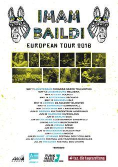@imambaildi European tour!! European Tour, Edinburgh, Posters, Tours, Bremen, Poster
