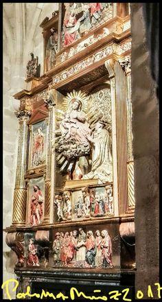 Catedral de Zamora. Capilla de San Bernardo. Retablo de la Vírgen y San Bernardo. Cathedral of Zamora St. Bernard Chapel Altarpiece of the Virgin and St. Bernard