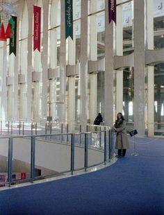 World Trade Center Lobby 1979. The purple carpeting.