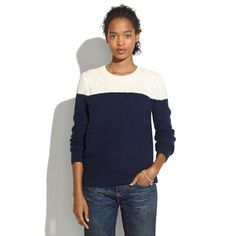 Colorblock Cableknit Sweater | Madewell