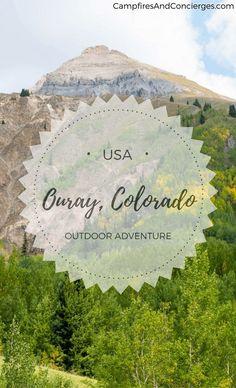 Ouray Colorado, USA San Juan Mountains Black Canyon National Park #ouray #colorado #outdooradventure #TravelDestinationsUsaColorado