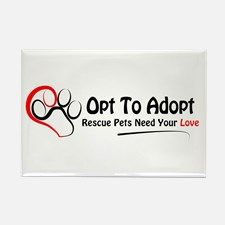 Opt To Adopt Rectangle Magnet for