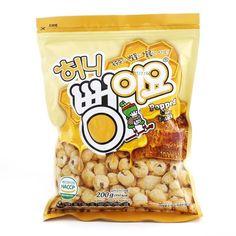 "Korean Sweet Snack ""HONEY PPUNG-I-YO"" Popped Corn Snack 200g #Homeplus"