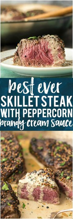 You NEED this BEST EVER SKILLET STEAK with Peppercorn Cream Sauce! And you also need Made In Cookware, I'm OBSESSED! The ultimate holiday gift! #madeinholidaysear #spon @madeincookware