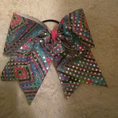 NEW SEQUINE CHEER BOW NEW MULTI COLOR SEQUINE CHEER BOW Accessories Hair Accessories